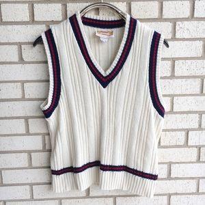 Vintage 70s-80s Jantzen Sweater Vest Tennis Gramps